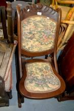 Vintage style sedan rocking chair, with tapestry