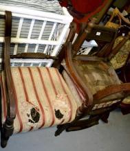 3 vintage Regency chairs AF, in need of