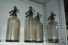 Collection of 4x various vintage glass soda
