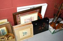 10x various assorted artworks incl. a set of 4x