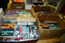 4x boxes of vintage books incl. novels, many