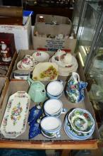 2x boxes of china and pottery incl. a Greek part