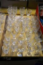 Table lot: Lge qty of cut crystal glassware,