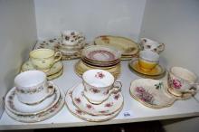 Shelf: qty of assorted trios etc incl. Royal