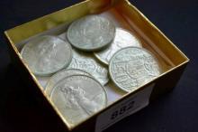 Collection of 7 1966 Australian circular 50c coins