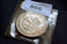 Australian silver 1938 crown, very fine