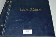 Coin album containing a collection of assorted