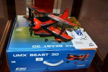 Remote control flying model plane, UNX Beast 3D