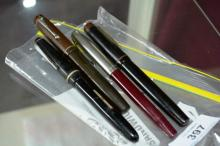 4 various vintage fountain pens incl. 2 x Summit