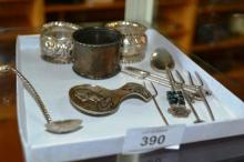 Collection of assorted sterling silver to include