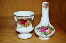 Royal Albert 'Old Country Roses', 2 various