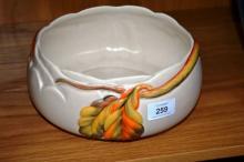 Clarice Cliff studio pottery fruit bowl,