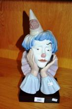 Lladro clowns head with no bowler hat - model