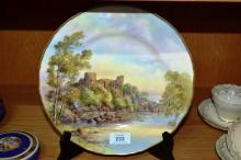 Royal Worcester display plate 'Barnard Castle'