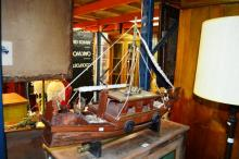 Handmade model of an Egyptian dhow, made by