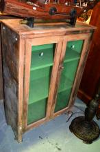 A rustic bookcase, distressed paint