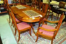 Solid rosewood dining suite, comprising of an