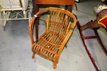 Vintage split cane child's chair