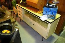 Mid century laminate topped sideboard with rare