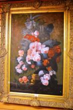 Unsigned, oil on canvas, still life, slight AF,