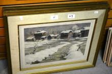 D.H. Walli (Pakistan), 3 vintage watercolours,