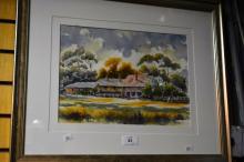 Henry Harrison, 'Old Homestead II', watercolour,