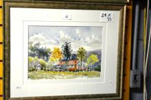 Henry Harrison, 'Old Farmhouse', watercolour,