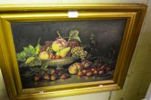E. Adams, still life, oil on board, signed & dated