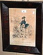 Antique hand-coloured lithograph -
