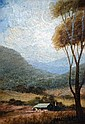 Collingridge Rivett, oil on board, 'Rural Scene,