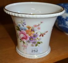 Royal Crown Derby 'Derby Posies' cache pot, 12cm H
