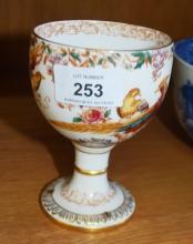 Royal Crown Derby 'Olde Avesbury' chalice, 12cm H