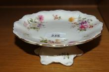 Royal Crown Derby 'Derby Posies' footed tazza stand, 17.5cm D