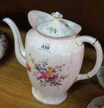 Royal Crown Derby 'Derby Posies' large size coffee pot with lid, 22.5cm H