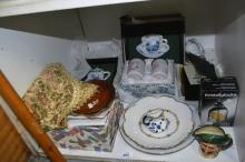 Japanese tableware incl. cups, plates, Doulton toby jug, display plates, boxed bell etc