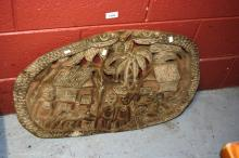 New Guinea hand carved storyboard