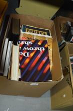 Box of vintage books incl. 'War Ships' etc