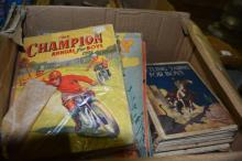 2 boxes of vintage books incl. Dr Who etc