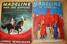 2 x early Madeline books incl. 'In London' & 'Madeline & the Gypsies', 1st UK edition, published 1962 & 1961