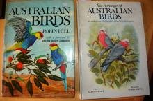 2 bird books incl. 'Australian BIrds' by Robin Hill & 'The Heritage of Australian Birds' by Glen Holmes, large format
