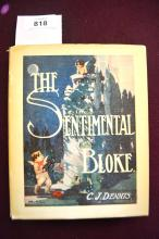 Book: 'The Sentimental Bloke' by C.J. Dennis, 3rd edition 1915 with scarce dust jacket