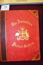 Book: 'The Australian Portrait Gallery & Memoirs of Representative Colonial Men', published by Southern Cross publishing Sydney, 1885, large numbers of portraits of notable men of the colony and information about them, coat of arms to front etc, quarter