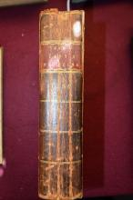 Book: the bound edition of 'The New Lady's Magazine or Polite & Entertaining Companion for the Fair Sex' Vol 1, 1786, incl. large number of block engraving prints, printed by Royal Authority for Alex. Hogg, London, incl. stories of Cook's first voyage in