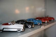 5 x tin plate early cars, various models