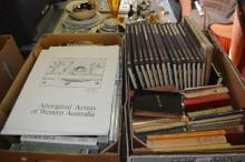 2 boxes vintage books incl. 2 x folios of aboriginal artists of Western Australia etc