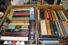 2 boxes of vintage hard back books incl. Tom Wolfe