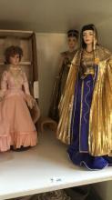 3 x Franklin Heirloom dolls incl. Nefertiti,