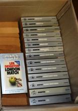 Large collection of Len Deighton novels, silver