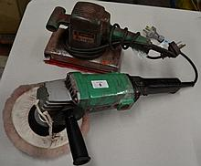 2 x Hitachi power tools, an orbital sander and a