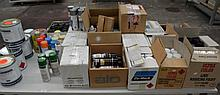 A huge quantity of paints and thinners including